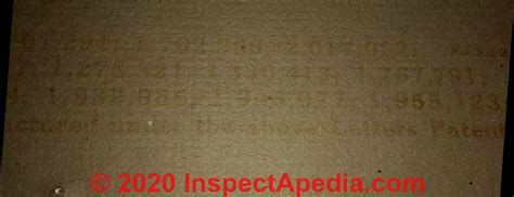 drywall identification stamps markings numbers  id