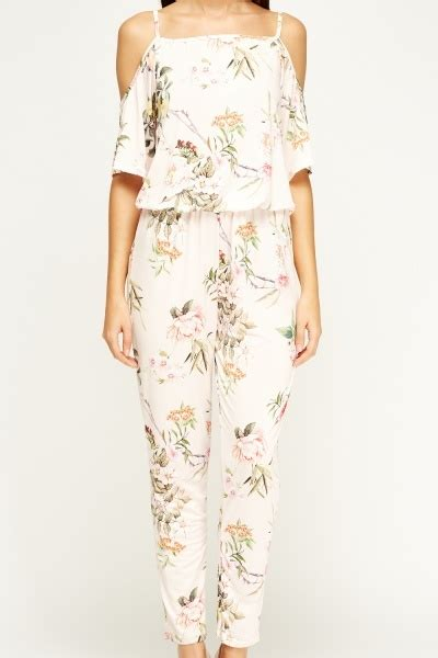 kimi and co light pink floral jumpsuit limited edition discount designer stock
