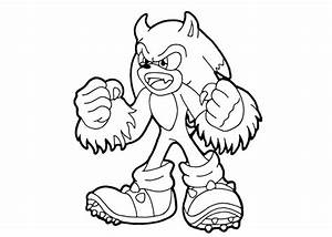Sonic The Werehog Coloring Pages Pictures - Ajilbab.Com Portal