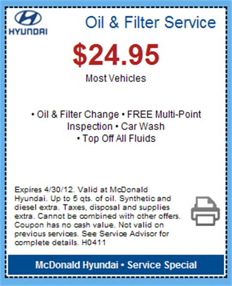 Hyundai Coupon by Hyundai Change Coupon Centennial Mcdonald Hyundai