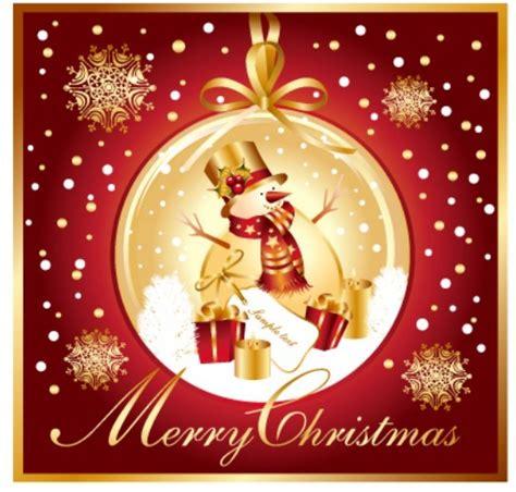 free golden merry christmas card template vector titanui