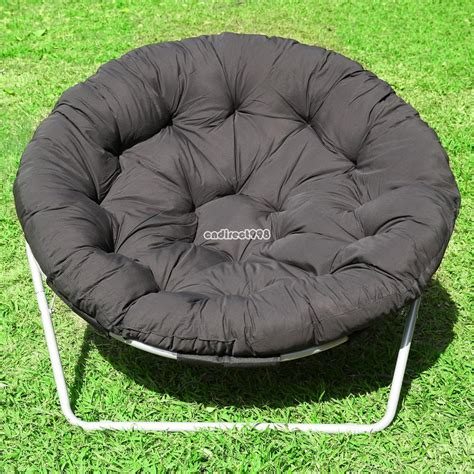 folding cing chair outdoor moon fishing garden leisure padded papasan chair ebay