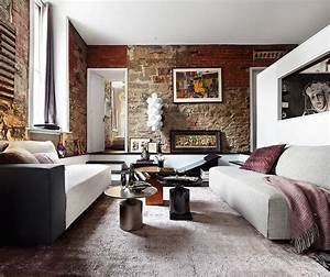 10, Brick, Walls, Living, Room, Interior, Design, Ideas