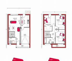 Plan Maison A Etage : plan maison 90m2 3 chambres a etage ~ Melissatoandfro.com Idées de Décoration