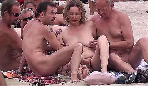 mature couples fuck on a nude beach