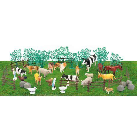 siege de tracteur animaux de la ferme ou de la jungle 47 pièces