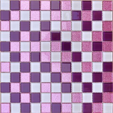 White and Purple Backsplash Powder Pink Bathroom Tile