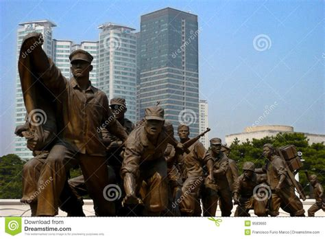sculpture war memorial korea editorial image image