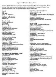 Lyme Disease Symptom Checklist