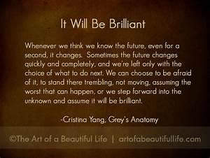 Christina Greys... Cristina Yang Cookie Quotes