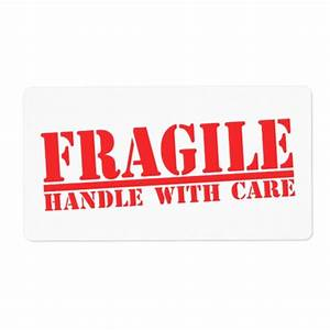 Fragile Handle With Care Labels | Zazzle