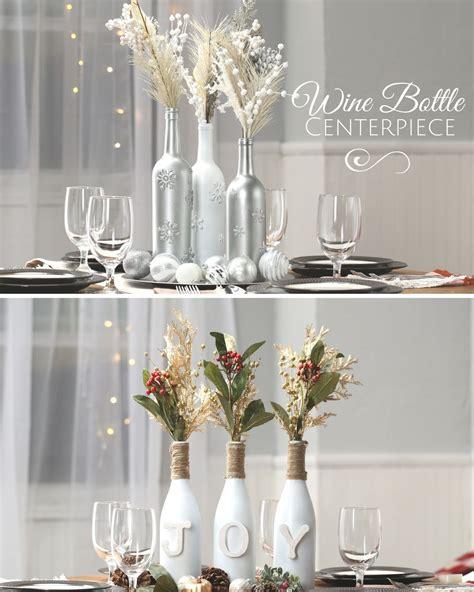 Wine Bottle Centerpiece Bottle Centerpieces Christmas