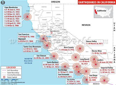 california earthquake map map2