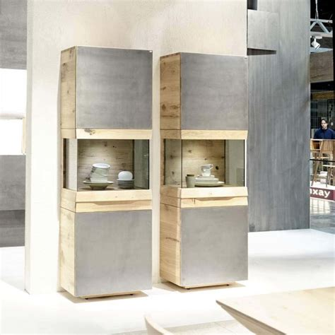 meuble de cuisine allemande meuble colonne contemporain avec vitrine en chêne ou en noyer