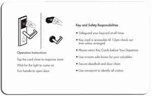 Hotel Lock Dictionary-key Card