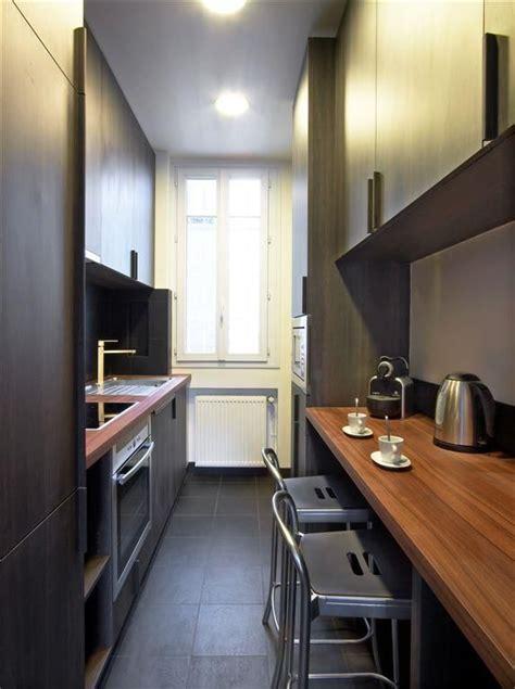 kitchen inspiration  narrow spaces  domozoomcom