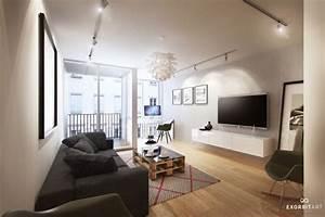idee decoration salon appartement With idee deco salon design