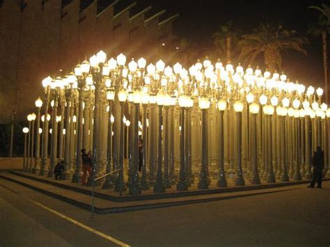the cool light posts in front of museum picture of los