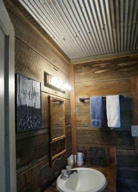 Corrugated metal on walls, recycled corrugated metal walls