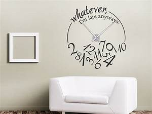 Designer Uhr Wand : wandtattoo uhr whatever i 39 m late anyways wandtattoo de ~ Michelbontemps.com Haus und Dekorationen