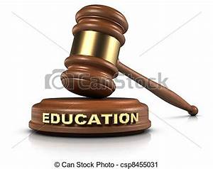 """Clipart of EDUCATION law - Gavel and """"EDUCATION"""" word ..."""