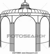Gazebo Silhouette Clip Fotosearch Kiosk Eps Illustration Vector Music  sketch template