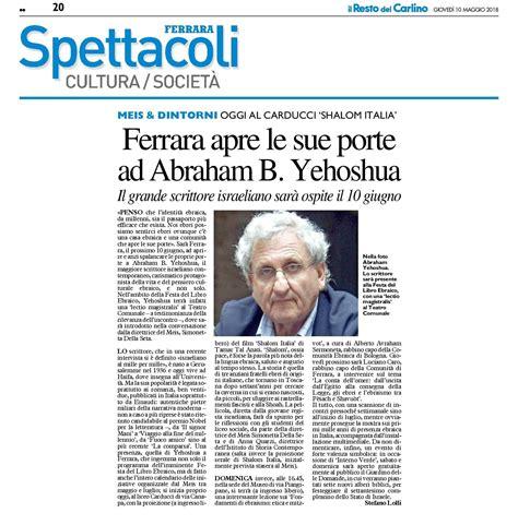 Orari Ufficio Passaporti Ferrara Ferrara Apre Le Sue Porte Ad Abraham B Yehoshua