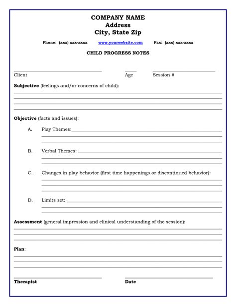 therapy notes template therapy progress note template professional resources notes template therapy