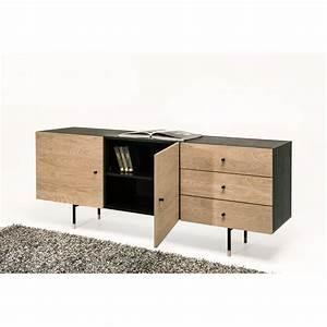 Buffet Bois Et Noir : buffet design bois et m tal jugend by drawer ~ Melissatoandfro.com Idées de Décoration