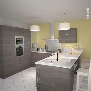 Cuisine en bois structure stilo noyer naturel kitchens for Dicor de cuisine