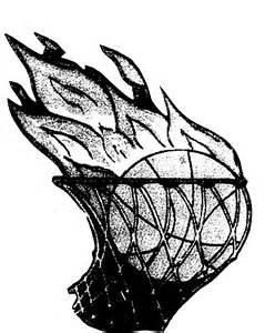 Black and White Basketball Net