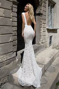 Robe De Mariée Dos Nu Plongeant : robe de mari e fourreau pr s du corps oksana mukha ~ Melissatoandfro.com Idées de Décoration