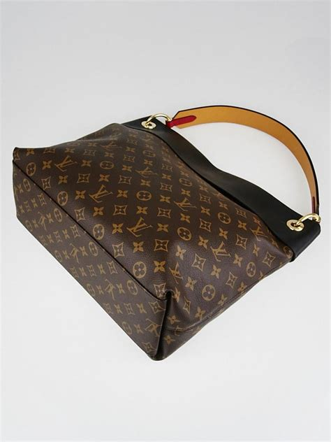 louis vuitton black monogram canvas tuileries hobo bag