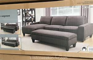 chaise sofa with storage ottoman costco weekender With costco sofa bed with storage