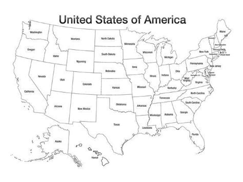 united states  america map usa coloring art poster print