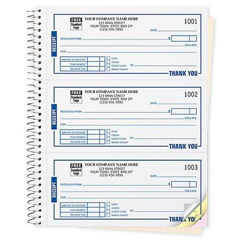 custom cash receipt books designsnprint