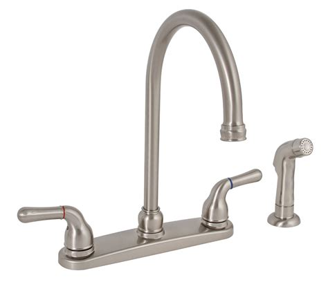 Kitchen Faucets Brushed Nickel by Premier 120174lf Two Handle Kitchen Faucet With Spray In