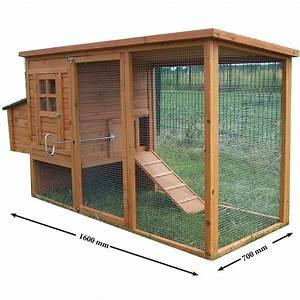 Plan Poulailler 5 Poules : poulailler en bois fsc teint clair 3 4 poules avec toit ~ Premium-room.com Idées de Décoration