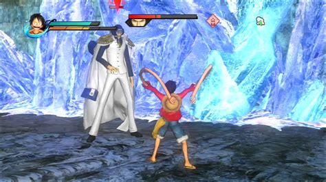 piece pirate warriors boss fight luffy  aokiji