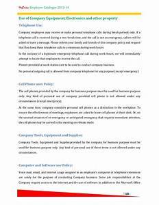 Hr Policy  Employee Catalogue  A template for your pany