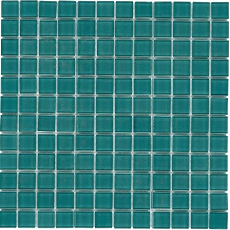 glass mosaic tile backsplash turquoise 1x1