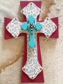 Hand Painted Crosses On Wood