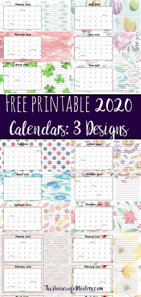 printable  quarterly calendars  holidays