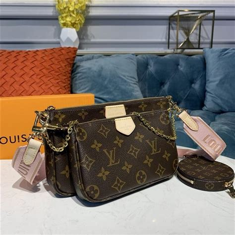 louis vuitton multi pochette accessoires rose clair aaa handbag