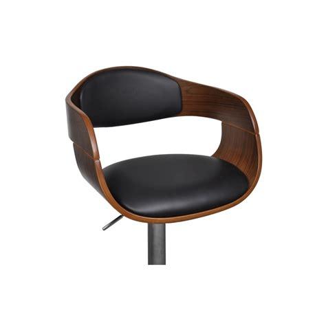 siege bar tabouret de bar design en bois et simili cuir noir hauteur