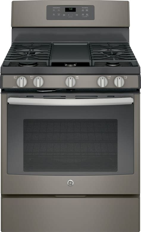 ge appliance package   gas convection range slate