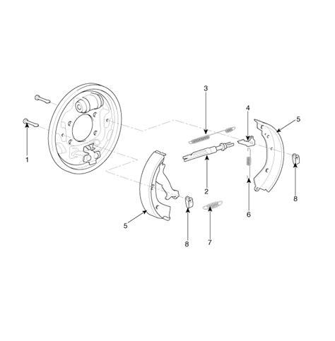 service manual rear drum removal 2012 kia soul kia rio components rear drum brake brake system kia rio ub 2012 2019 service manual