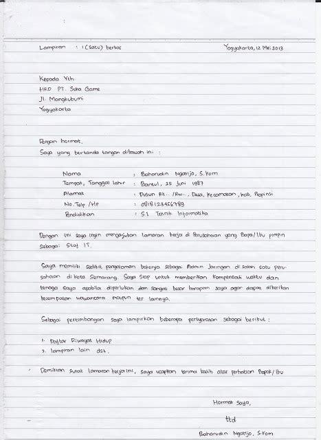 Contoh Surat Lamaran Kerja Cpns Kemendikbud by Situsmedia Contoh Surat Lamaran Kerja Tulis Tangan Yang