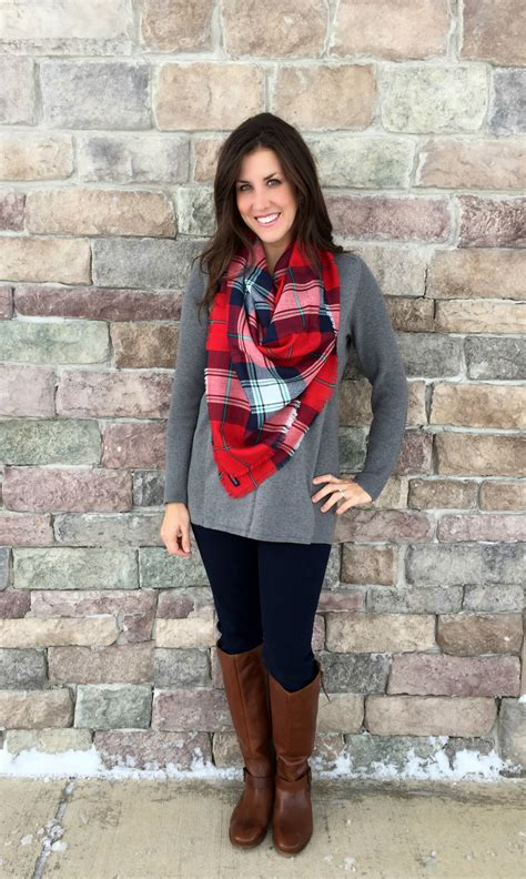 What I Wore Real Mom Style Plaid Scarf Outfits