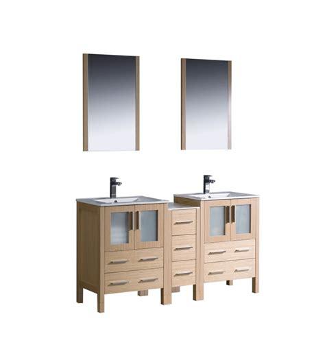 60 inch vanity light 60 inch double sink bathroom vanity in light oak with